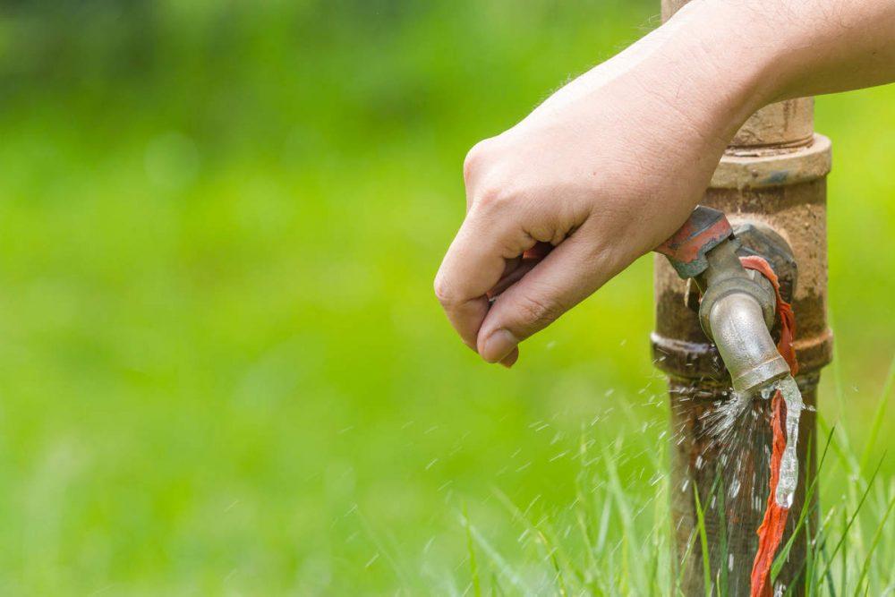 evitare spreco d'acqua
